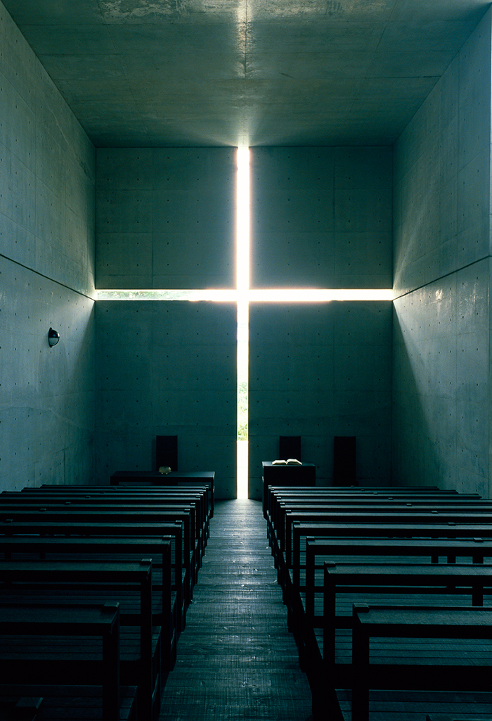 光の教会,1989年,大阪府茨木市(撮影:松岡満男)