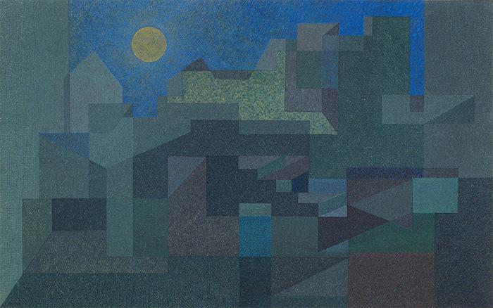 オットー・ネーベル 《聖母の月とともに》1931年、グアッシュ・紙、ベルン美術館