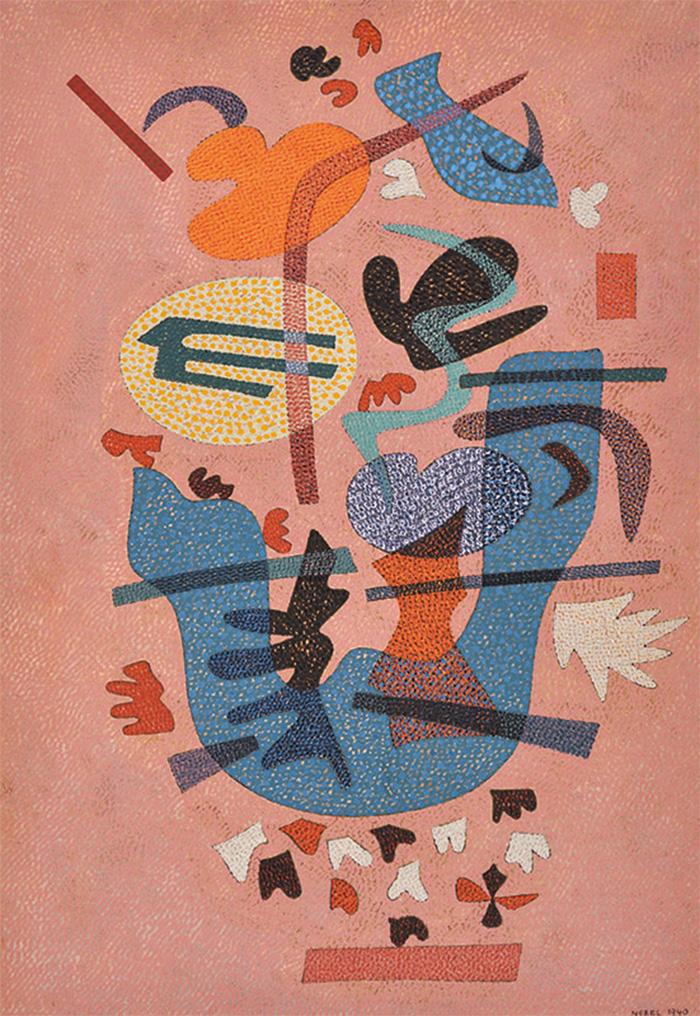 オットー・ネーベル 《叙情的な答え》1940年、テンペラ・紙、オットー・ネーベル財団