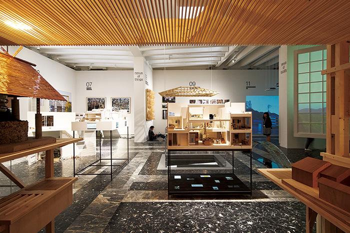 「en[ 縁 ]:アート・オブ・ネクサス」第 15 回ヴェネチア・ビエンナーレ国際建築展 日本館展示風景 Ⓒ石山和広