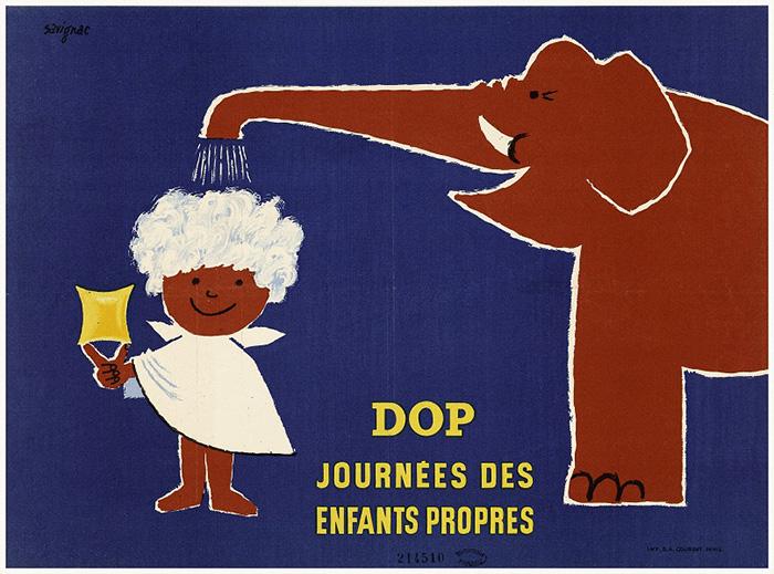 レイモン・サヴィニャック《ドップ 清潔な子どもの日》1954年 ポスター、カラーリトグラフ 29×40cm パリ市フォルネー図書館所蔵 ©Annie Charpentier 2018