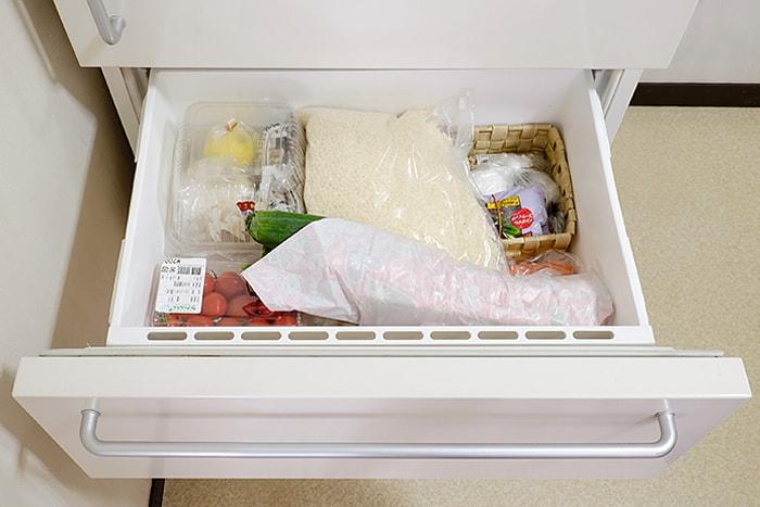 鮮度を意識した野菜室収納
