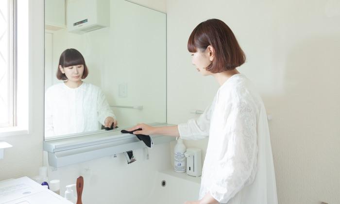 おさよさん家の脱衣所・洗面所の収納は、 掃除しやすさ優先で時短&スッキリをキープ