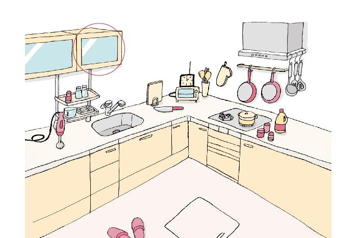 「キッチン」(吊り戸棚)