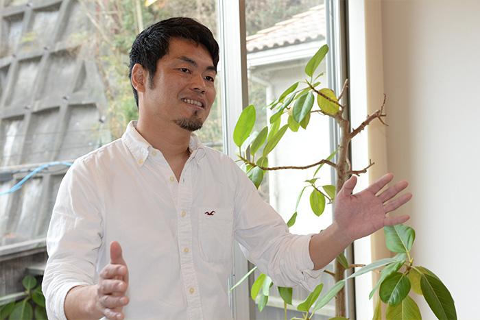 建築士ならではの先見性で家族のスペースを考える角田さん。