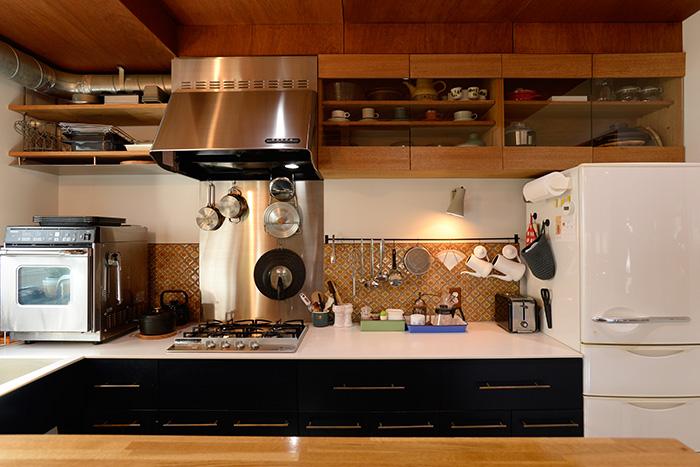 手づくりキッチン収納