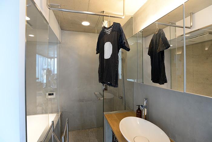 シンプルにこだわったバスルーム