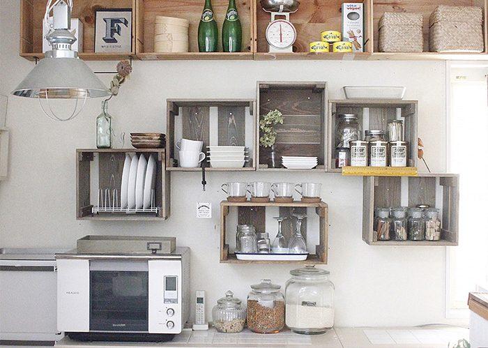 キャベツボックスをDIYしてキッチンの壁面収納に!?《Rumiさん》