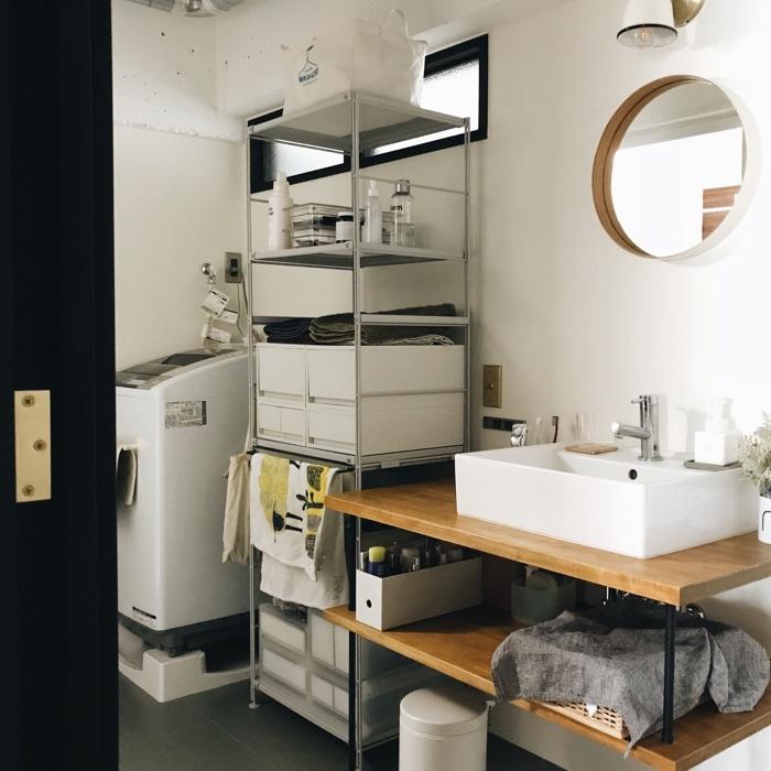 使い勝手や使用頻度を考えた、スマートバスルーム収納《いがりこさん》