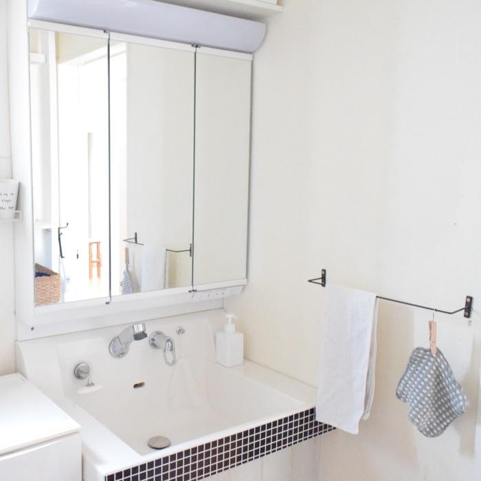 洗面所収納の使い勝手アップのコツはアイテム組み合わせ