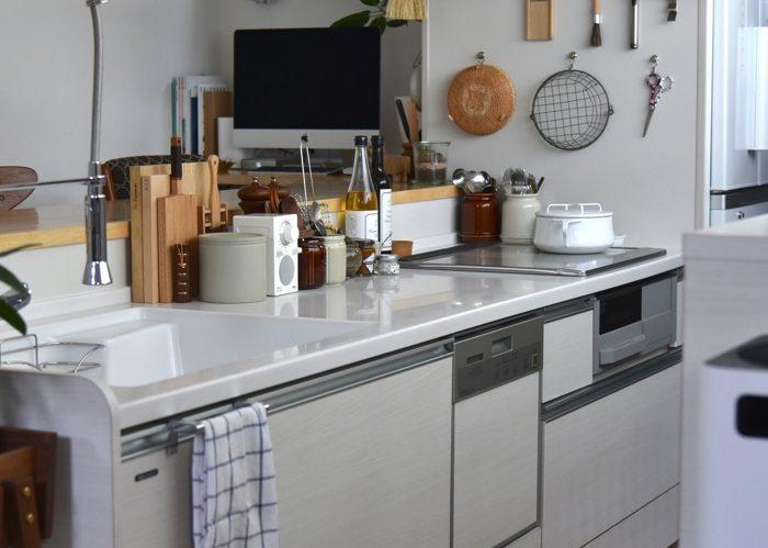全部しまう はあえてしない、キッチンオープン収納
