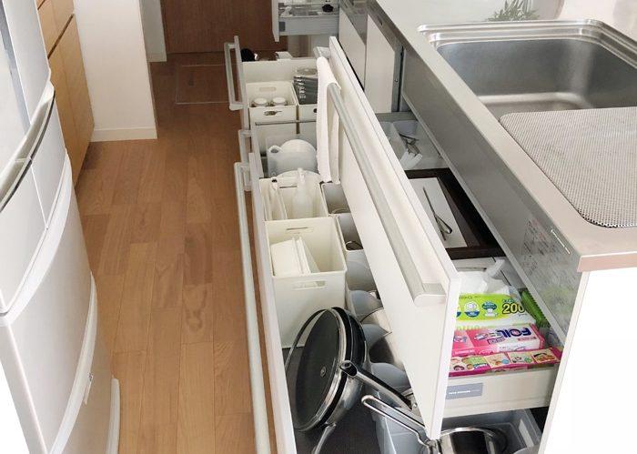 キッチンの引き出し収納に欠かせない、ラベリングの方法とは