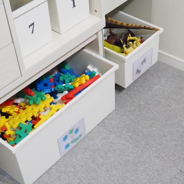 ラベルを使った子どものおもちゃや勉強道具の収納方法