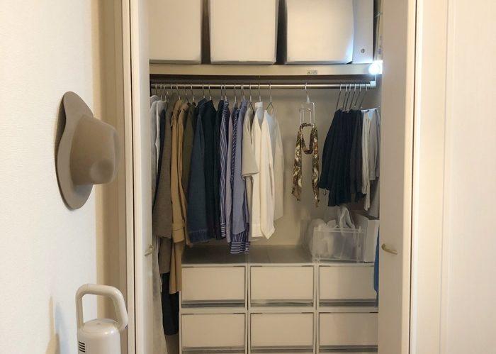 収納アイテムを活用した、ひとり暮らしの衣類整理術
