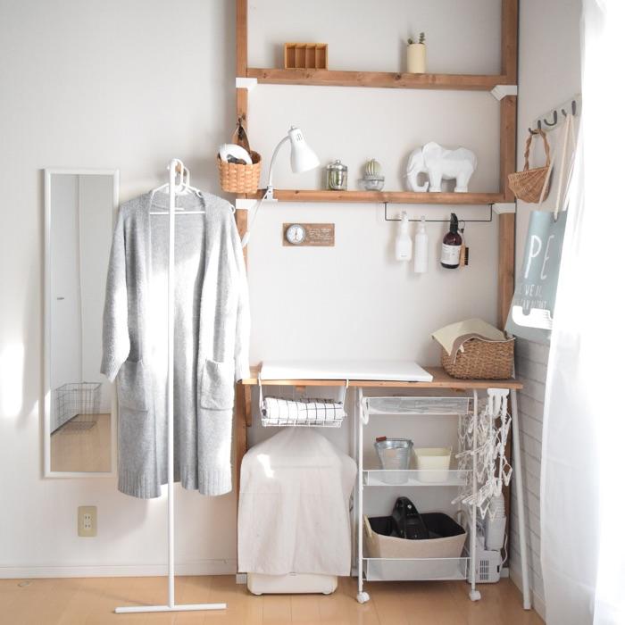 DIYで憧れの家事室を。スムーズな家事導線が実現する収納アイデア
