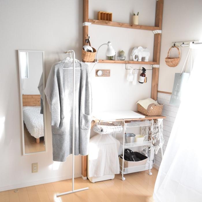 DITで憧れの家事室を。スムーズな家事導線が実現する収納アイデア