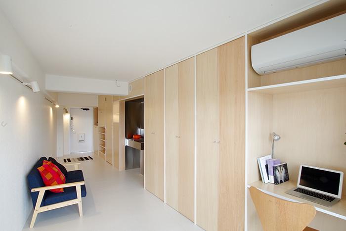 斬新な収納アイデアでフルリノベーションした、賃貸・狭小ワンルームのアパート