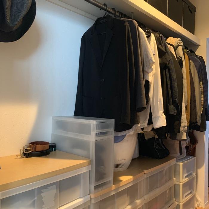 可動棚を設置し、効率の良い玄関収納を実現。クローゼットでも活かせる壁面収納 noboさん