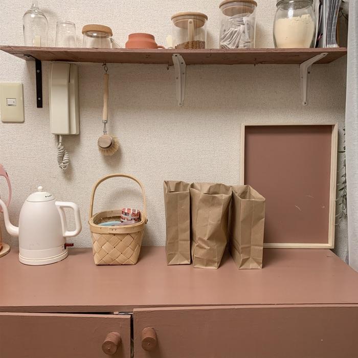 賃貸ひとり暮らしキッチン×DIY!オリジナルの収納棚の活用方法とは? chiikokoさん