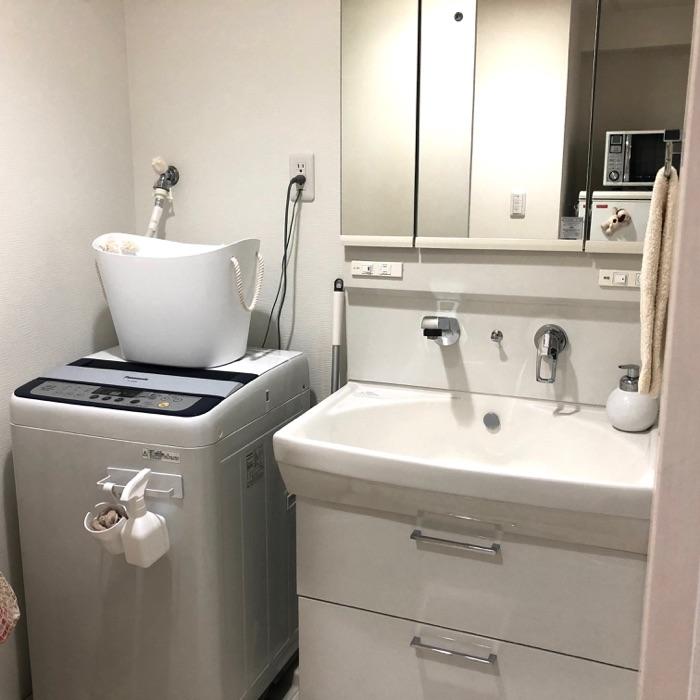 小掃除習慣できれいをキープ。掃除をしやすい洗面所収納の工夫 sakkoさん