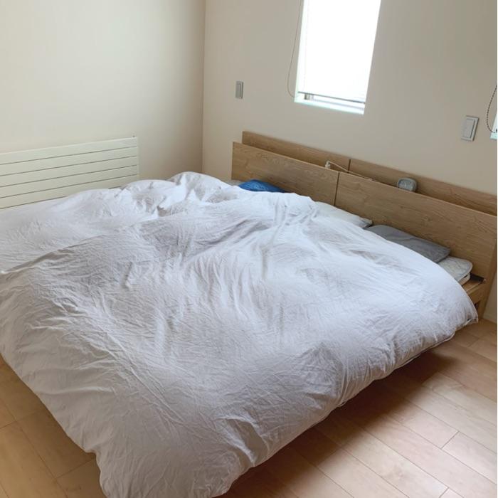 寝室の収納は、防災意識と使い勝手の良い寝具選びから。Fujinaoさん