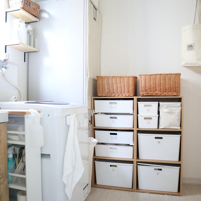 造作収納なしで、使いやすく掃除しやすい洗面所にする工夫 sayaka.さん