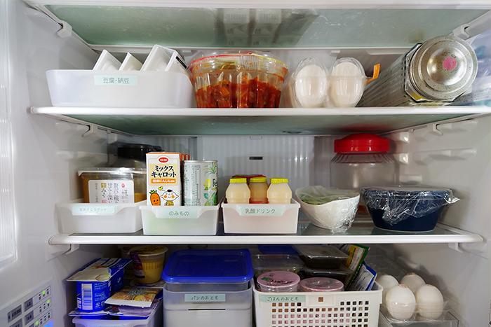 冷蔵庫の収納術|食材を探す手間や時間を短縮できる冷蔵庫内の収納実例